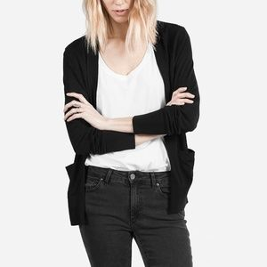 Everlane NWOT Luxe Cardigan 100% Wool Black Large
